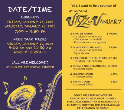 Jazz in January at Christ Church