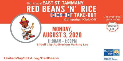 United Way East St. Tammany Red Beans & Rice Cook-off Take-out